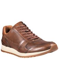 Timberland Men Casual Sneakers Madaket US 10M Medium Brown Full Grain Leather
