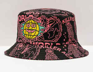 Killer Acid Worldwide Black & Pink Bucket Hat - ONE SIZE - NEW WITH TAGS!
