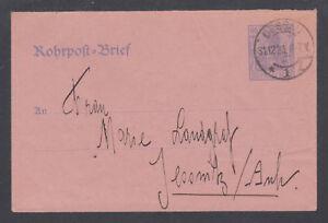 Germany Mi RU9 used. 1920 60pf Pneumatic Post Envelope, 1921 Dessau CDS, VF.