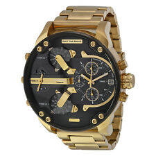 Diesel DZ7333 Mr.Daddy 2.0 Black Gold Dial Quartz Men's Watch - 2 Years Warranty