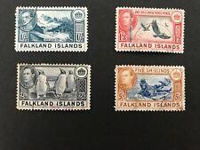 Stamps Falkland Islands George VI 1/-, 1/3, 2/6 , 5/- Used