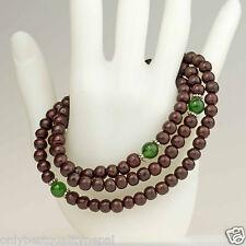 Mala Jade Rosenholz Gebetskette Halskette Holzschmuck Armband Buddha 23