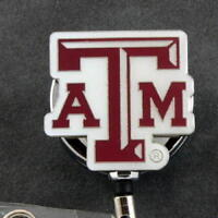 NCAA Texas A&M Aggies College Sports Retractable Security Badge ID Card Holder