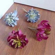 Set of 4 Artificial Sleep lotus Succulent Grass (2 colors)