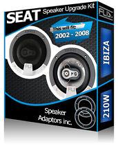 Seat Ibiza porte Arrière Haut-parleurs FLI voiture Speaker Set + Haut-parleur Adaptateur Anneaux 210 W
