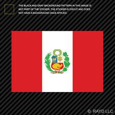 """4"""" Peruvian Flag Sticker Decal Self Adhesive Vinyl Peru PER PE"""