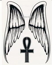 TRIBAL SET OF WINGS AND CROSS NEW DESIGN - BIG BIG SIZE 9782 Temporary Tattoo