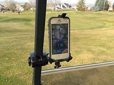 iPhone Golf Cart Mount. Works with iPhone 4 and 5 and most smart phones.