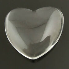 50Pcs Glass Clear Heart Shape Dome Cameo Cabochons 18*17mm Finding Decor 37931