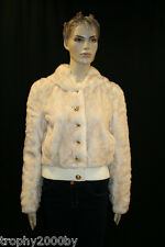 NEW JUICY COUTURE $358 FAUX FUR BOMBER JACKET WITH HOOD SZ M MEDIUM