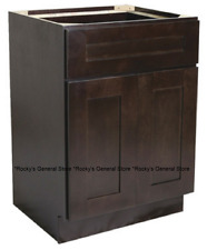 "Espresso Shaker Bathroom Vanity Base Cabinet 30"" Wide x 21"" Deep New"