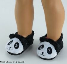 Panda Bear Slippers fits Hearts for Hearts Wellie Wishers Dolls Bedroom Shoes