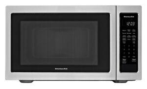 KitchenAid 1.6 cu ft 1200 Watt Countertop Microwave Oven, Stainless NEW OPEN BOX