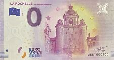 BILLET 0  EURO  LA ROCHELLE LA GROSSE HORLOGE  FRANCE  2018  NUMERO 100