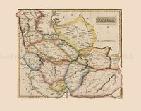 MAP ANTIQUE LUCAS 1814 GENERAL ATLAS PERSIA LARGE REPLICA POSTER PRINT PAM1023