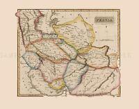 MAP ANTIQUE LUCAS 1814 GENERAL ATLAS PERSIA LARGE REPLICA POSTER PRINT PAM1023
