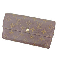 Louis Vuitton Wallet Purse Monogram Brown Woman unisex Authentic Used T1492