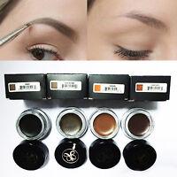 Makeup Waterproof Eyebrow Enhancer Liner Cream Brow Pomade Gel, Definer Brush