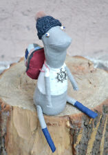 """Grey turtle"", Authorial Textile Doll (Cloth Toy), Handmade, OOAK, Modern Artist"