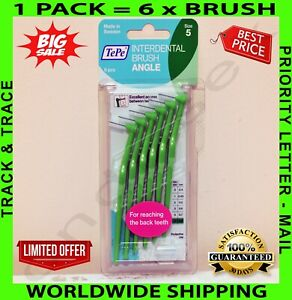 TePe Angle Interdental Brushes in Various Colours and Sizes – Pack of 6 Brushes