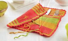 ~ Crochet Pattern For Lovely Two-In-One Placemat & Cutlery Roll ~