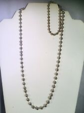 Unisex Silver Bead Ball Chain Necklace And Bracelet Set