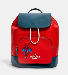 GENUINE SPIDERMAN COACH SIGNATURE BACKPACK BAG FACTORY SEALED