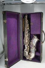 1920/30er Jahre Martin Elkhart Ind. Low Pitch Saxophon in Koffer mit Zubehör