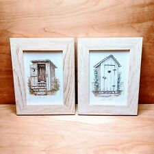 OUTHOUSE FRAMED PRINTS by Martha Hinson
