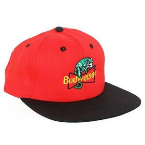 Vintage Budweiser Beer Lizard Snapback Hat Baseball Cap