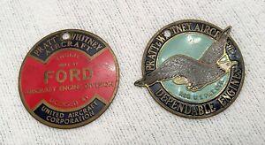 VTG Pratt & Whitney Aircraft Dependable Engines Ford Division Enamel Emblem Lot