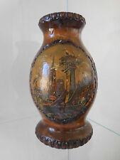 vase en bois Alsace Strasbourg fait main art nouveau CURIOSITY by PN