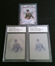 3 Card Lot w #1/1s + /100 Forrest Griffin Printing Plates 2010 Leaf MMA UFC