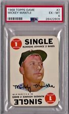 1968 Topps Game PSA Graded Complete Set  Mickey Mantle PSA 6 CS123