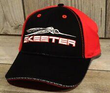 New ListingSkeeter Performance Fishing Boats Eat Sleep Fish Red Black Hat Cap Nwt