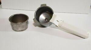 Krups 963 Espresso Maker Filter Holder Handle White Replacement Part & Basket