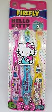 HELLO KITTY TOOTHBRUSHES 3PC SET TOOTHBRUSH GIRLS GIFT 100% ORIGINAL LICENSED