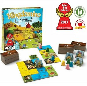 Kingdomino Game Family Strategy Building Board Card Game Award Winning 2-4 Play