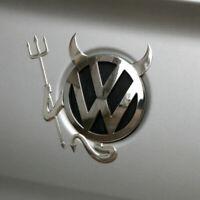 ☆  STICKER  DIABLE LOGO 3D CHROME,  EMBLÈME VW Volkswagen  auto deco EN RELIEF ☆
