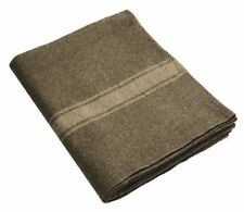 Army Wool Blanket Heavy Duty Military Surplus Warm Survival Hunting Gear Marine