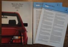 MERCEDES BENZ 200D 250D 300D SALOONS 1985 UK Mkt Sales Brochure + Specs - W124