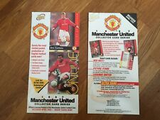 RARE 1997 Futera Manchester United Football cards Preview Flyer