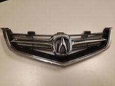 ACURA TSX 04 05 GRILLE GRILL WHOLE PC WITH OEM EMBLEM & CHROME MOLDING 2004 2005