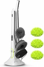 Electric Spin Scrubber w/ 4 Replaceable Cleaning Brush Head & Adjustable Handle