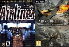 airlines two management simulation & Air Conflicts - Secret Wars    new&sealed