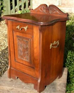 Antique Mahogany Purdonium  coal scuttle storage box ideal lamp table