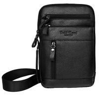 Men Genuine Leather Messenger Shoulder Fanny Pack Waist Sling Chest Hook Bag New