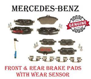 Front & Rear Brake Pad Sets & Sensor For Mercedes C117 X156 B250 CLA250 GENUINE