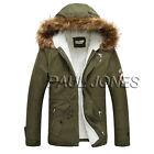 Hommes Hiver épais manteau col capuche décontracté Veste Ski rembourré parka