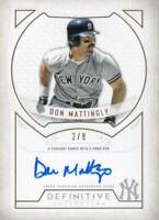 MLB Card 2019 Don Mattingly Topps Yankees Defining Moments Auto 2/8